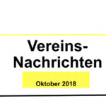 Vorstand Aktuell Oktober 2018