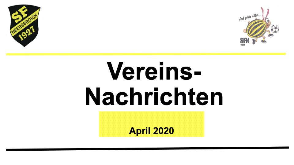 Vorstand Aktuell April 2020